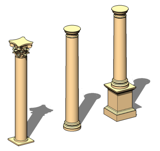 Architectural Columns And Pillars : Revit architectural columns vs structural