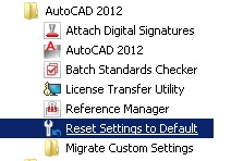 2012 Reset Settings To Default