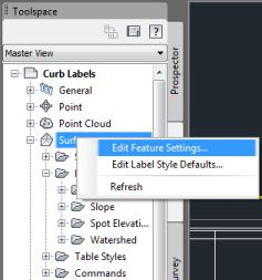 Edit Surface Feature Settings