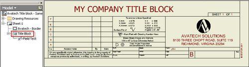 My Company Title Block