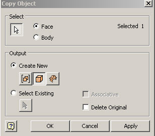 Copy Object Tool Settings
