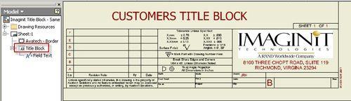 Customers Title Block
