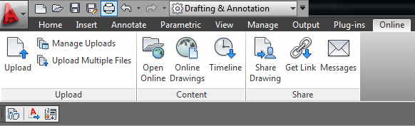 Missing The Online Tab And Plug Ins Tab On The Acad 2012