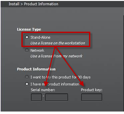 Installation product information