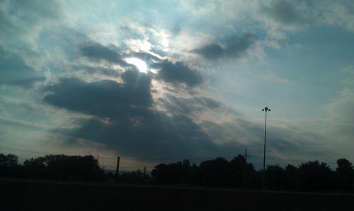 Sun beams pushing through the clouds