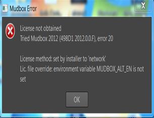 Mudbox error 2012