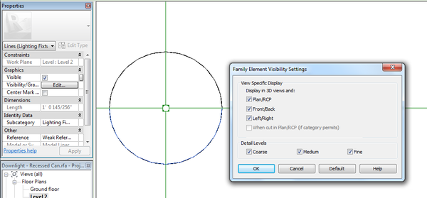Revit: Trying to add symbolic lines to light fixtures for