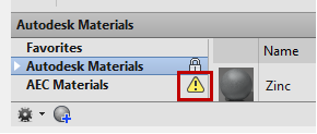 Autodesk Installation: Missing the Autodesk 2013 Material