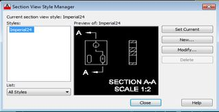 Section View Style Manager