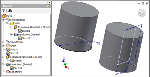 Cylinder Creation in Two Ways