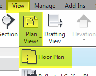 REVIT_VIEW TAB_VIEW PLAN