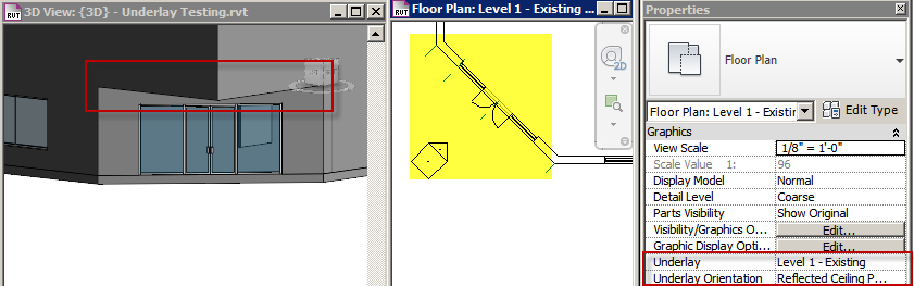 Revit Wall Header Not Showing With Underlay Set To Rcp Imaginit Technologies Support Blog