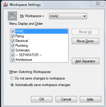 ACAD_WORKSPACE SETTINGS_SAVE CHANGES