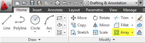 AUTOCAD_HOME TAB_MODIFY PANEL