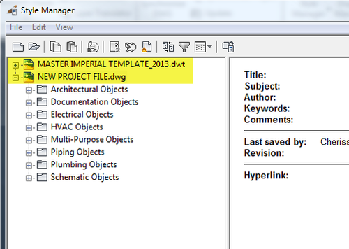ACAD_MEP_MANAGE_STYLE MANAGER_DWG