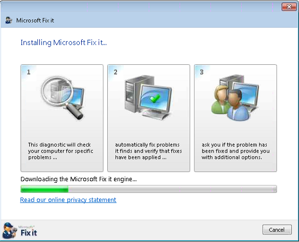 Stuck installation resolved with Microsoft Fix It - IMAGINiT