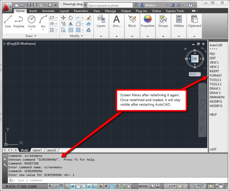 What happened to Blips and Screen Menu in AutoCAD 2012 and 2013