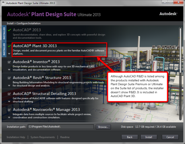Autocad P Id Doesn T Install With Autodesk Plant Design Premium Or Ultimate Suites Imaginit Technologies Support Blog