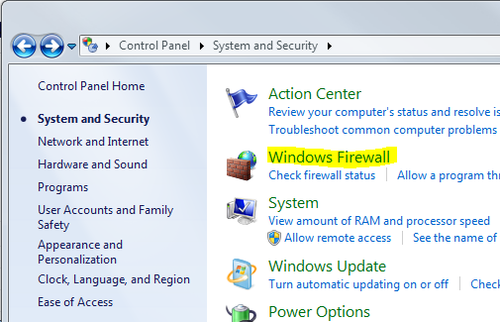 CONTROL PANEL_FIREWALL