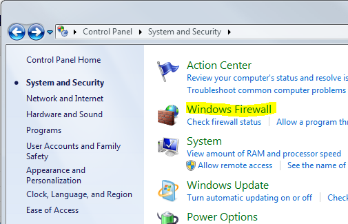 Autodesk Server: Creating a firewall exception for Autodesk