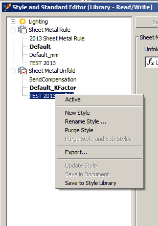 Save Sheetmetal Metal Styles To Style Library In Inventor