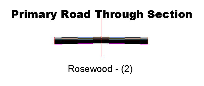 Primary Road Through Section