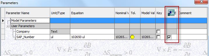 Parameterexport