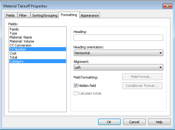 Revit Schedules: Adding Custom Fields and Calculated Values
