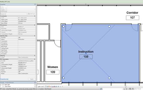 REVIT TAB OVER LINKED MODELS