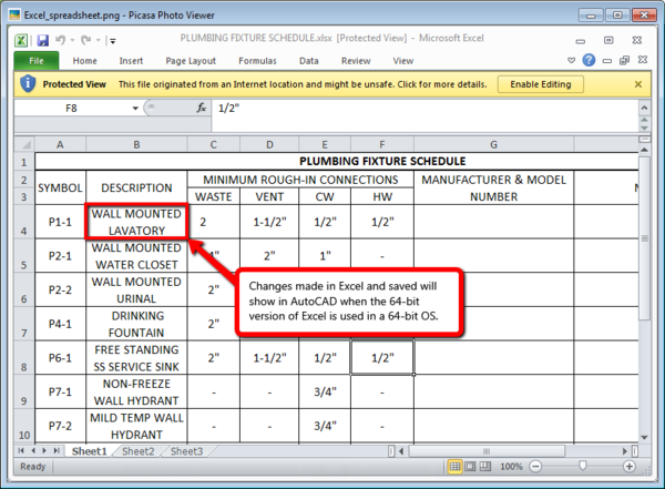 Excel Datalink doesn't update - IMAGINiT Technologies