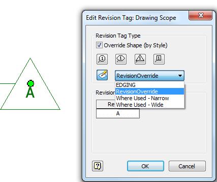 Revising The Revision Tag Symbol Override Imaginit Manufacturing