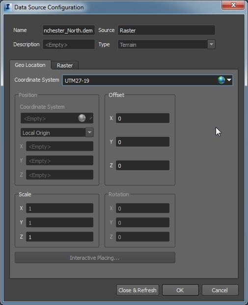 Configure Raster Geo Location Tab-F7