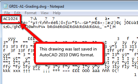 Here's an update on AutoCAD  dwg file formats by release  - IMAGINiT