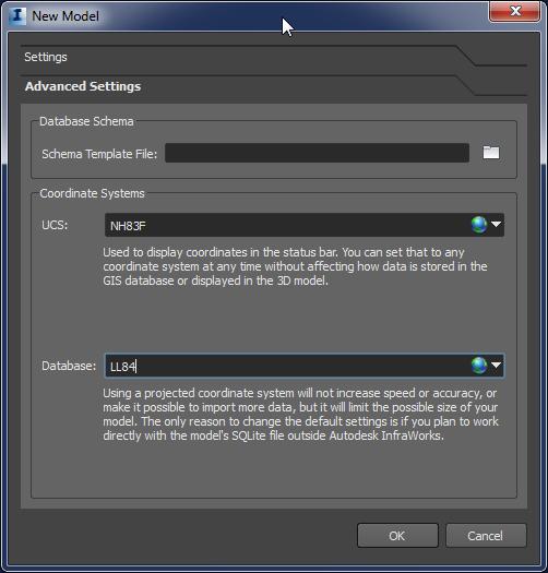 Create New Model-Advance Settings-F4