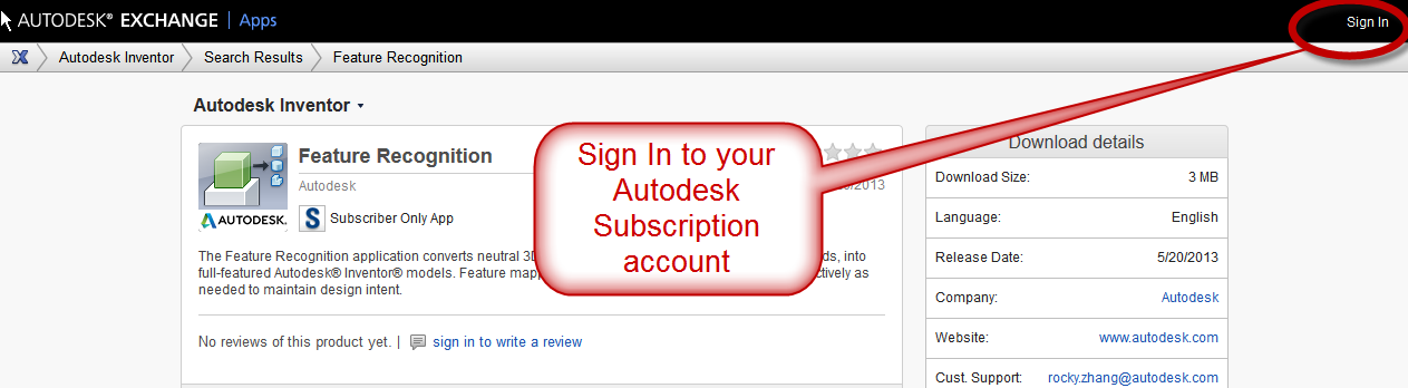 Feature Recognition for Inventor 2013-2014 now on Autodesk