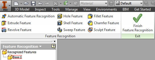 Feature Recognition Ribbon