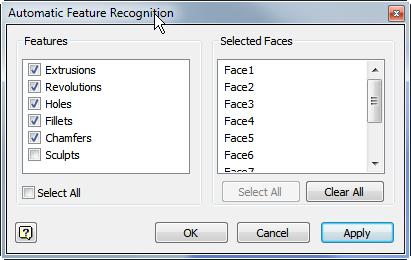 Automatic Feature Recognition