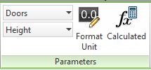 Parameters panel