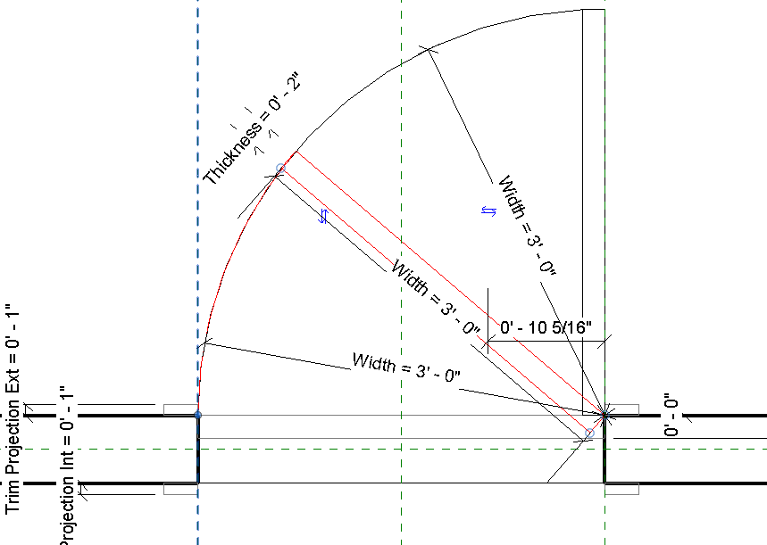 Revit Adding A 45 Degree Door Swing Using Visibility