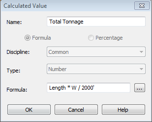 Revit Structure: Schedule Framing Total Weight in Tons