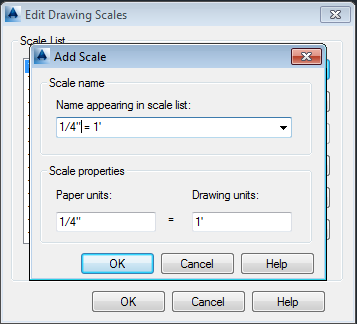 AutoCAD How to Create Addtional Scales2