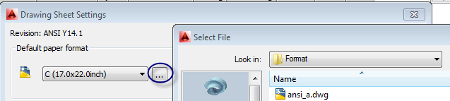 Drawing Sheet Settings Add format