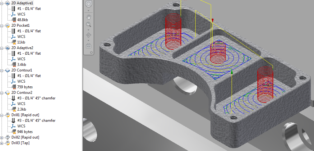 Program CNC toolpaths using Autodesk Inventor HSM Express