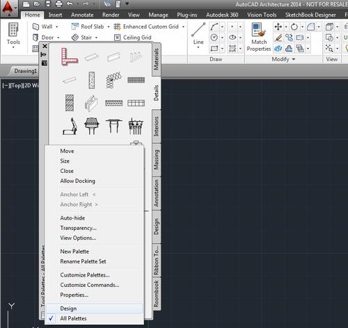 ACA/AMEP: Lost all tool palette groups - IMAGINiT