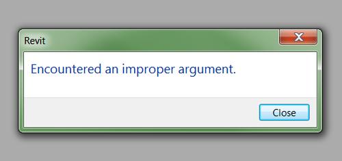 Revit encountered error