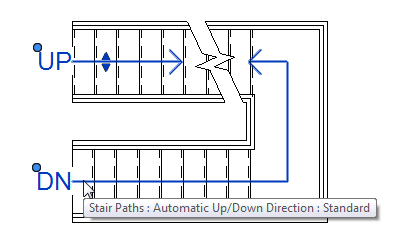 Stair path controls