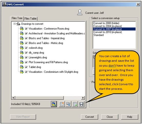 Do you need to convert your  DWG file to an earlier format