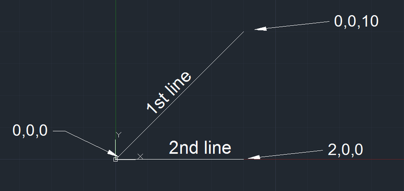 AutoCAD Point Filter Line Display