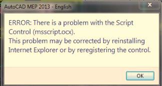 Msscript.ocx error