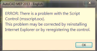 ACAD/ACA/AMEP: There is a problem with the script control
